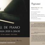 Récital de piano au profit du Cours Saints-Martin - 28 février 2020 à 20h30 - Paris