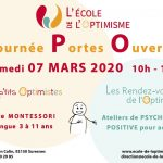 Journée Portes Ouvertes - École de l'Optimisme à Suresnes (92) - Samedi 7 mars 2020